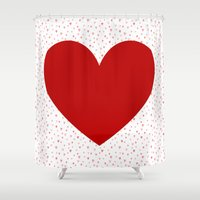 valentines Shower Curtains featuring Happy Valentines Day! by Lena Photo Art