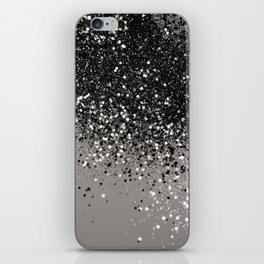 Silver Gray Glitter #1 #shiny #decor #art #society6 iPhone Skin