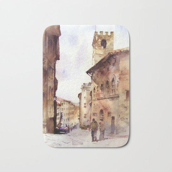 Italy oldtown Arezzo Bath Mat