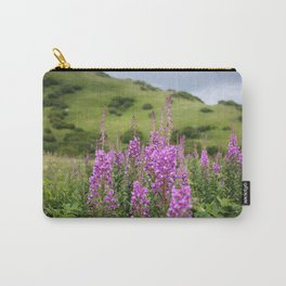 Fireweed on a Mountain Photography Print Carry-All Pouch