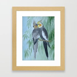 Cockatiels Framed Art Print