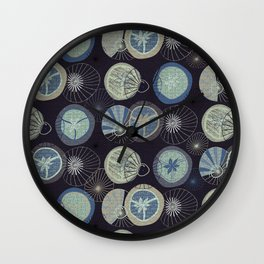 Pies in Mod style / colour 02 Wall Clock