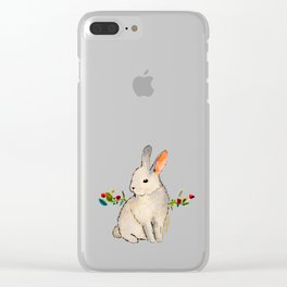 Cruelty Free Bunny Clear iPhone Case