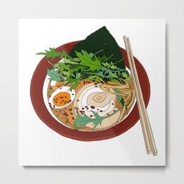 Soy Ramen Noodle Metal Print
