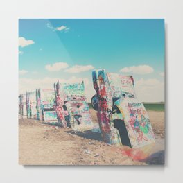 Route 66 graffiti print  Metal Print