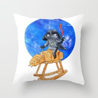 darth vader Throw Pillows featuring Darth Vader by gunberk