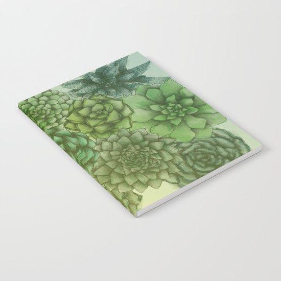 Hazy Succulents Notebook