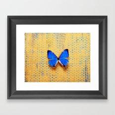 Morpho and the Blue Dots Framed Art Print