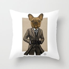Much Handsome, Dapper Doge Throw Pillow