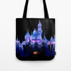 Sleeping Beauty's Winter Castle Tote Bag
