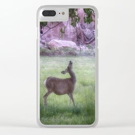 Deer at Capitol Reef Clear iPhone Case