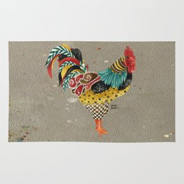 Rooster Mardi Rug