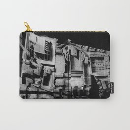 Antique Rome, black white columns, structure, city walls, abstract Carry-All Pouch