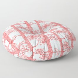 Pine Forest (Light Blue and Red) Floor Pillow