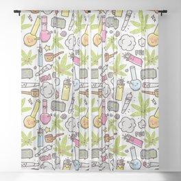 Weed Mania Sheer Curtain