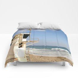 Laguna Beach Lifeguard Tower Comforters