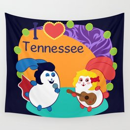 Ernest and Coraline | I love Tennessee Wall Tapestry