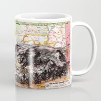 washington Mugs featuring Washington by Ursula Rodgers