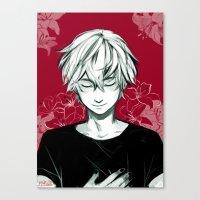 viria Canvas Prints featuring Kaneki by viria