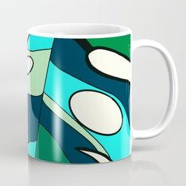 Blue cool monstera plant Coffee Mug
