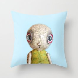 Sheldon The Turtle - Baby Blue Throw Pillow