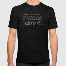 Inside of You MEDIUM Tri-Black Mens Fitted Tee