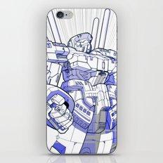 Blue Mecha iPhone & iPod Skin