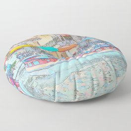 Ride Down The River - San Antonio, Texas Floor Pillow