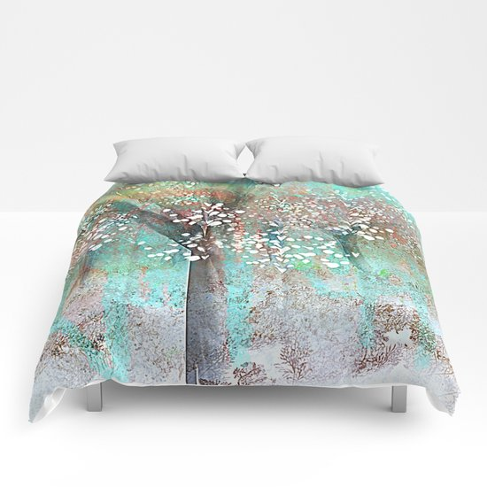 Sparkling Trees Comforters