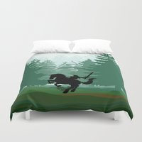 the legend of zelda Duvet Covers featuring Legend Of Zelda by Kesen