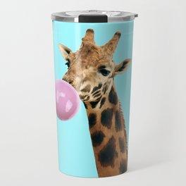 Giraffe with bubble gum Travel Mug