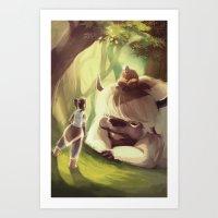 appa Art Prints featuring Spirit World by Attyca