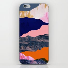 Graphic volcanic mountains iPhone Skin