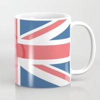 england Mugs featuring  England by XKbeth