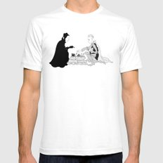 The Seventh Seal White Mens Fitted Tee SMALL