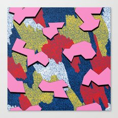 Memphis Pattern - Primary Canvas Print