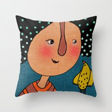 chouette Throw Pillow