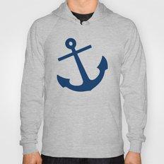 Navy Blue Anchor Hoody