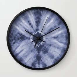 Tie Dye Navy Wall Clock