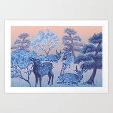Arrival in Nara Art Print