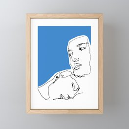 line drawing-Faces Framed Mini Art Print