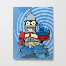 Optimus Bender Metal Print