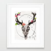 hannibal Framed Art Prints featuring Hannibal by Ashley Glass