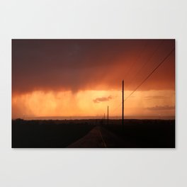Side Road Sunset Canvas Print