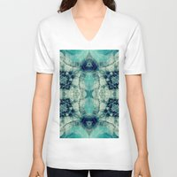 lake V-neck T-shirts featuring Lake by jbjart