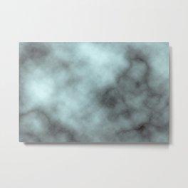 Aquamarine marble Metal Print