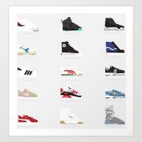 sneaker Art Prints featuring Sneaker Head by Knox Paper Pen