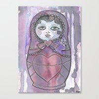 nan lawson Canvas Prints featuring Nan the Nesting Doll by Pan Art