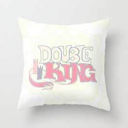 DOUBLE KING: Title Card Throw Pillow