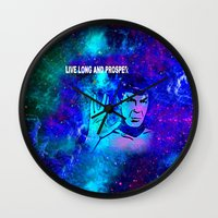 spock Wall Clocks featuring SPOCK by Saundra Myles